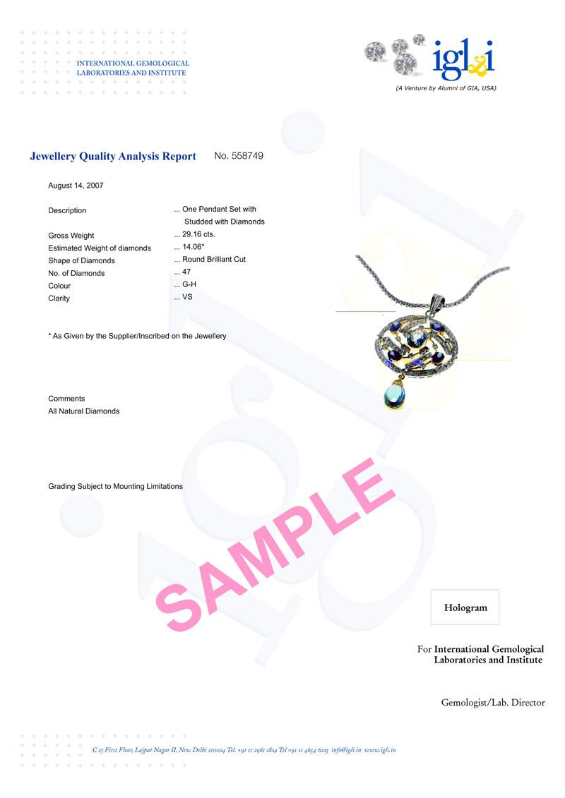 Gem testing labs delhi india diamond testing labs delhi india enlarge sample yadclub Gallery
